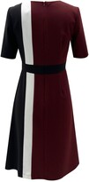 Thumbnail for your product : Sandra Darren Short Sleeve Colorblock Fit & Flare Dress