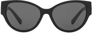 Versace Solid 56MM Cat Eye Sunglasses