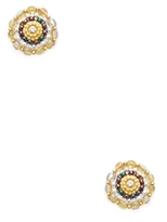 Miguel Ases Beaded Circle Stud Earrings