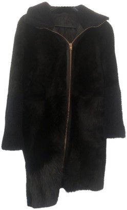 Avelon Black Shearling Coat for Women