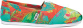 Toms Coral and Green Tyler Ramsey Women's Classics