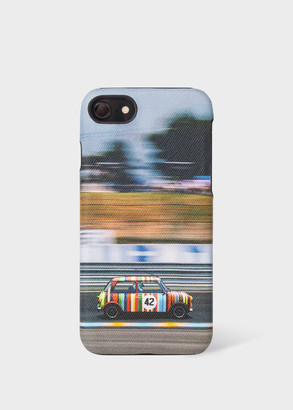 'Racing Mini' Print Leather iPhone 6/6S/7/8 Case