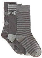 Class Club 3-Pack Argyle Socks