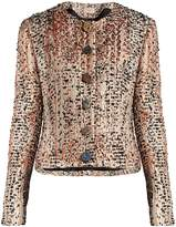 Christopher Kane Stone-embellished wool-blend tweed jacket