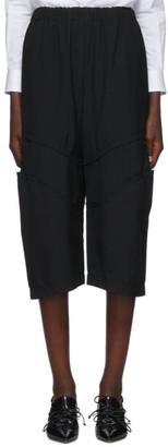 Comme des Garcons Black Wool Knee Detail Trousers