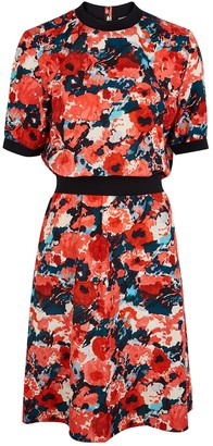 Kenzo Floral-print cotton-blend dress