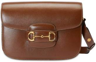 Gucci 1955 HORSEBIT AZALEA LEATHER BAG