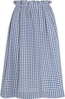 Mother of Pearl Grace gingham cotton midi skirt