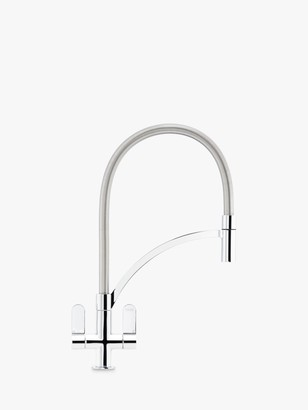 Franke Zelus Lift Out Nozzle 2 Lever Kitchen Mixer Tap, Chrome