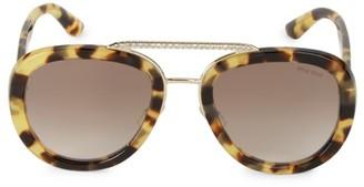 Miu Miu 53MM Embellished Pilot Sunglasses
