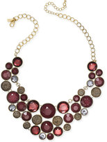 INC International Concepts Gold-Tone Merlot Crystal Bubble Necklace, Only at Macy's