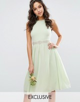 TFNC WEDDING Embellished Midi Dress with Full Skirt