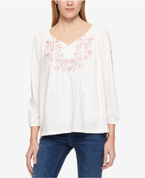 Tommy Hilfiger Embroidered Peasant Top, Only at Macy's