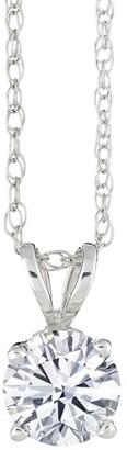 Affinity Diamond Jewelry Affinity 1/3 ct Round Diamond Pendant w/ Chain, 14K Gold