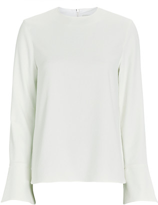 Tibi Chalky Bell Sleeve Top