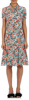 Marni Women's Floral Crepe A-Line Shirtdress