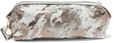MM6 MAISON MARGIELA Beaded metallic leather clutch