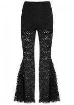 Givenchy Black Flared Lace Trousers