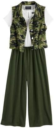 My Michelle Girls 7-16 Printed Vest Jumper