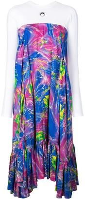 Marine Serre flowered hybrid dress