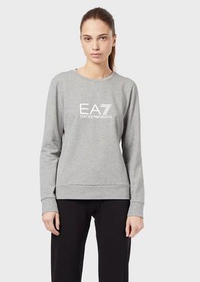 Ea7 Crew-Neck Sweatshirt With Logo Print