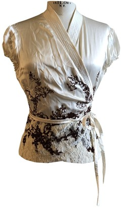 Philosophy di Alberta Ferretti White Silk Top for Women