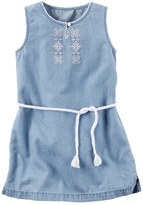 Carter's Girls 4-8 Embroidered Chambray Dress