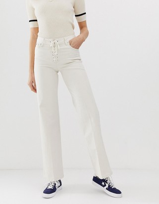 Pepe Jeans Strand lace up flared jeans