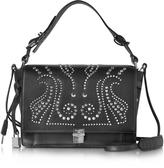 Zadig & Voltaire Studded Black Leather Optimist Shoulder Bag
