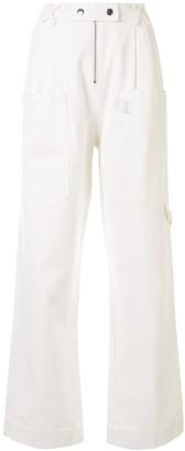 Sea High-Rise Wide-Leg Trousers