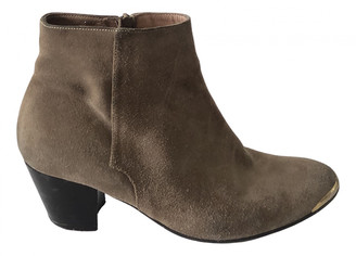 Jonak Camel Suede Ankle boots