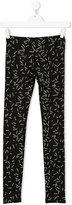 DKNY Teen geometric logo print leggings