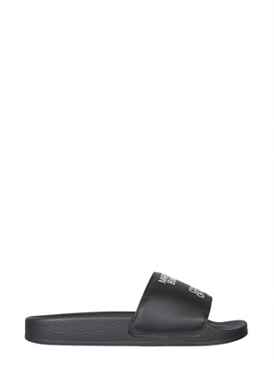 Marcelo Burlon County of Milan Logo Print Sandals