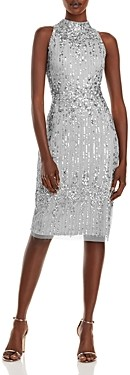 Adrianna Papell Beaded Halter Cocktail Dress