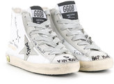 Golden Goose Deluxe Brand Kids - Francy high-top sneakers - kids - Cotton/Calf Leather/Leather - 24