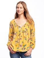 Old Navy Lightweight Floral Swing Top for Women