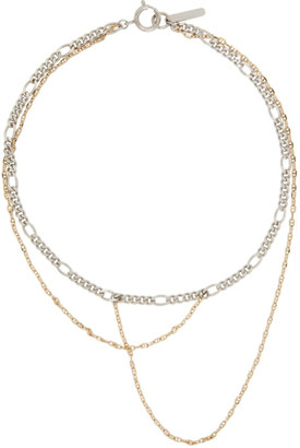 Justine Clenquet Silver and Gold Gemma Necklace