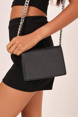 I SAW IT FIRST Black Chunky Chain Side Bag