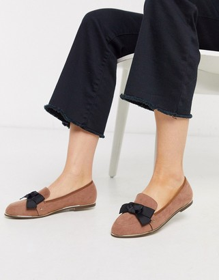 Miss KG flat bow loafers