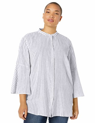 Chaps Women's Plus Size Bell Sleeve Top