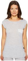 Emporio Armani Neo Romantic Macrame Viscose Lounge Cap Sleeve Top Women's Clothing