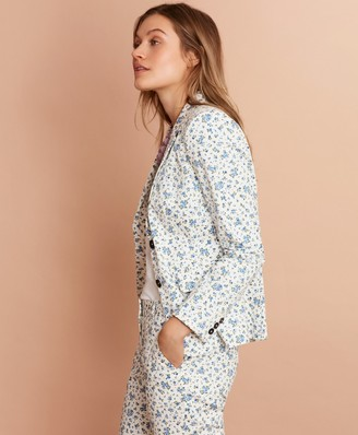 Brooks Brothers Floral-Print Stretch-Cotton Sateen Jacket