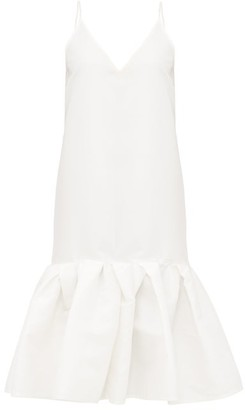 Marques Almeida Peplum-hem Taffeta Slip Dress - White