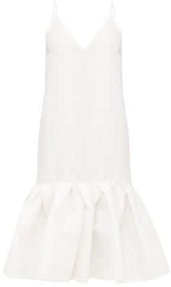 Marques Almeida Marques'almeida - Peplum-hem Taffeta Slip Dress - Womens - White