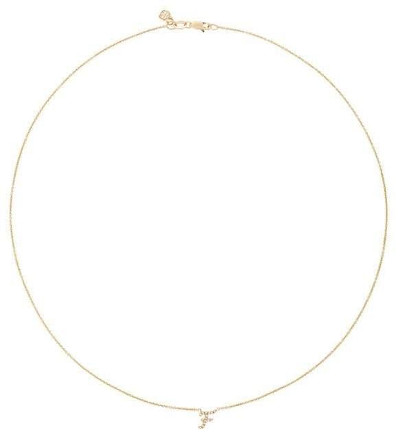 Sydney Evan Diamond F Necklace