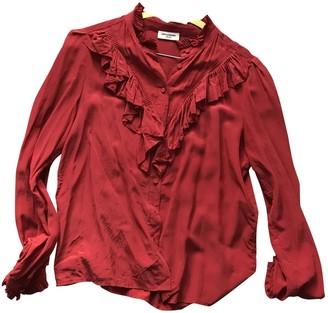 Zadig & Voltaire Spring Summer 2019 Red Silk Top for Women