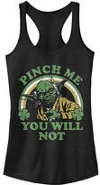Fifth Sun Women's Tank Tops BLACK - Star Wars Black Yoda 'Pinch Me' Racerback Tank - Women & Juniors