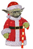 Kurt Adler Star Wars Santa Yoda Pre-Lit Christmas Decor - Indoor & Outdoor