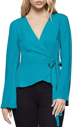 BCBGeneration Bell-Sleeve Wrap Top