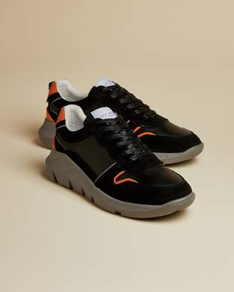 Ted Baker Colour Block Leather Trainers